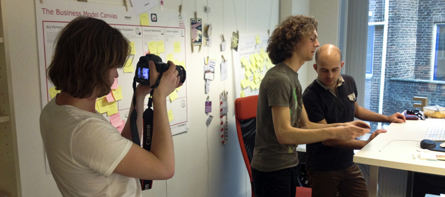 Gilles van Leeuwen filming some dev diary action