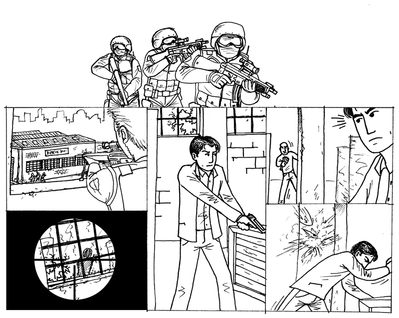 Cutscenes based on the original comic, an idea borrowed from Max Payne