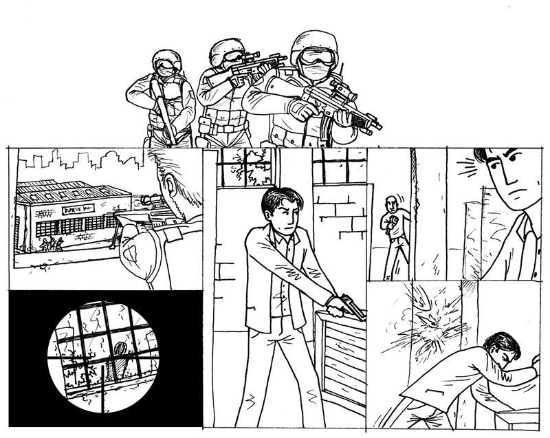 Cutscenes based on the original comic, an idea borrowed from Max Payne